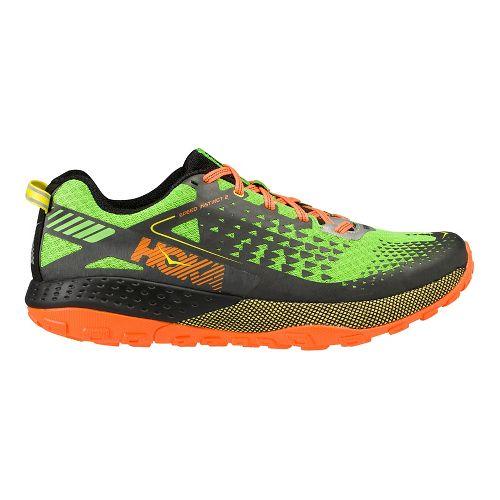 Mens Hoka One One Speed Instinct 2 Trail Running Shoe - Green/Black 9