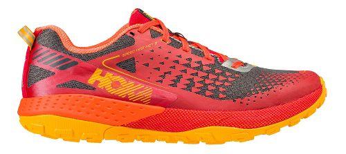 Mens Hoka One One  Speed Instinct 2 Trail Running Shoe - Red/Orange 12.5
