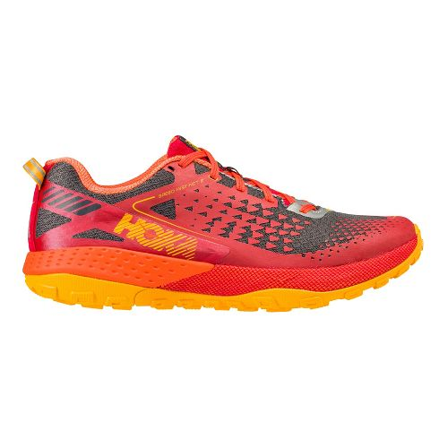 Mens Hoka One One Speed Instinct 2 Trail Running Shoe - Red/Orange 11.5