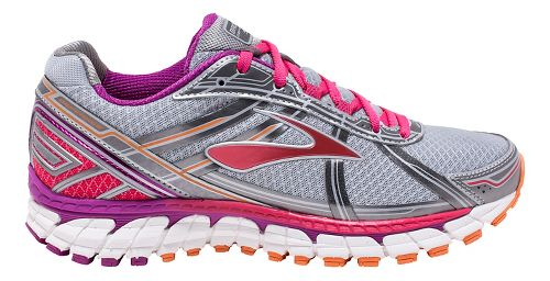 Womens Brooks Defyance 9 Running Shoe - Silver/Charcoal 9