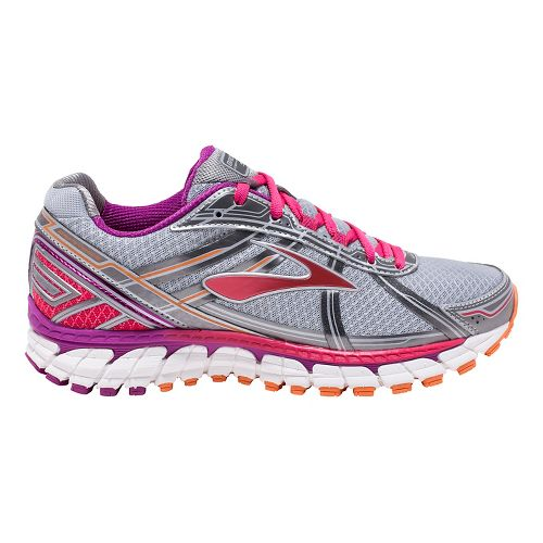 Womens Brooks Defyance 9 Running Shoe - Silver/Charcoal 10.5