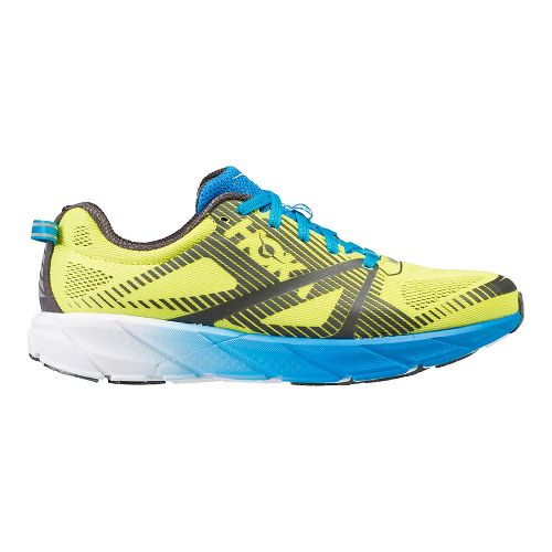 Mens Hoka One One Tracer 2 Running Shoe - Yellow/Blue 11
