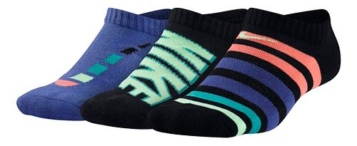 Nike Kids Performance Cushion No Show 3 pack Socks - Multi S