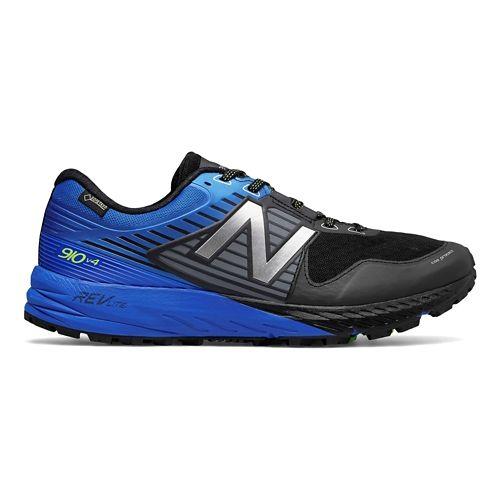 Mens New Balance 910v4 GTX Trail Running Shoe - Black/Vivid Cobalt 7.5