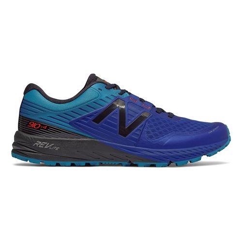 Mens New Balance 910v4 Trail Running Shoe - Pacific/Black 11