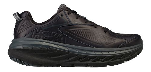 Womens Hoka One One Bondi Leather Walking Shoe - Black 11