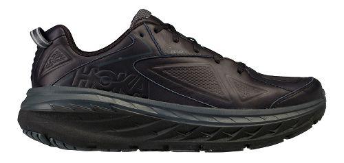 Womens Hoka One One Bondi Leather Walking Shoe - Black 9.5