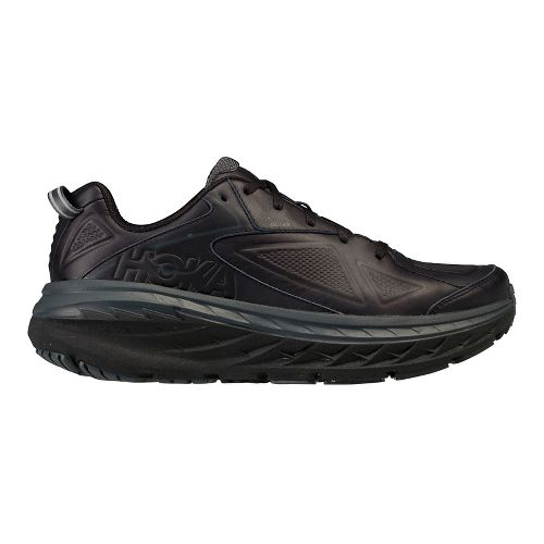 Womens Hoka One One Bondi Leather Walking Shoe - Black 11