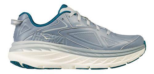 Womens Hoka One One Bondi Leather Walking Shoe - Tradewinds 10.5