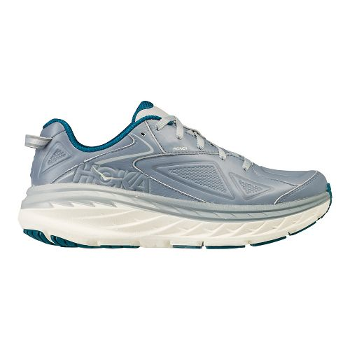 Womens Hoka One One Bondi Leather Walking Shoe - Tradewinds 9.5