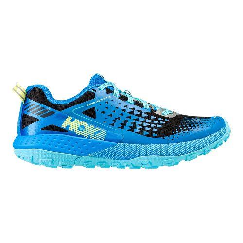 Womens Hoka One One  Speed Instinct 2 Trail Running Shoe - Blue/Black 10