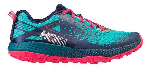 Womens Hoka One One  Speed Instinct 2 Trail Running Shoe - Turquoise/Navy 9.5