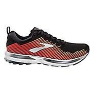Mens Brooks Levitate Running Shoe - Black/Red/Orange 7