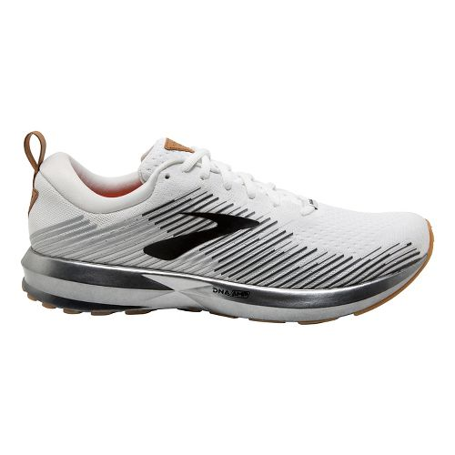 Mens Brooks Levitate Running Shoe - White/Silver 8