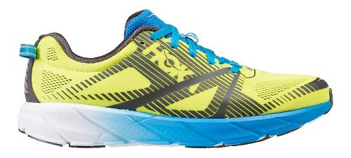 Womens Hoka One One Tracer 2 Running Shoe - Yellow/Blue 8.5