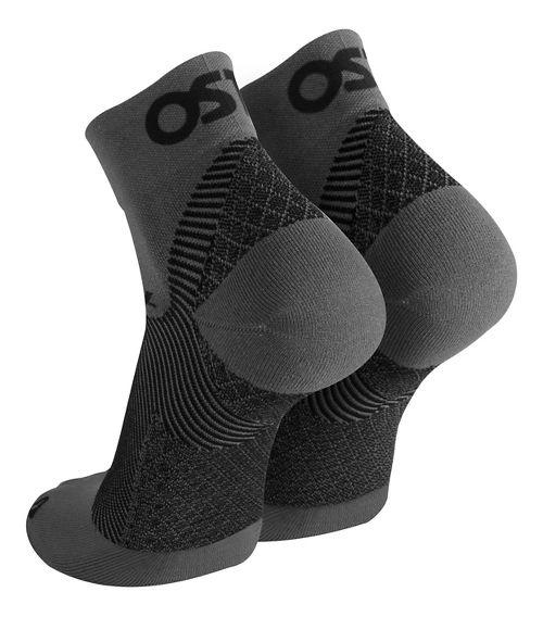 OS1st FS4 Plantar Fasciitis Quarter Crew Socks Injury Recovery - Grey L
