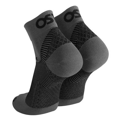 OS1st FS4 Plantar Fasciitis Quarter Crew Socks Injury Recovery - Grey M