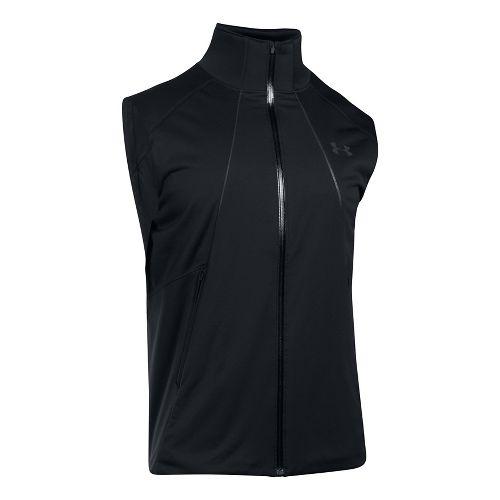 Mens Under Armour 3G CG Reactor Storm Run Vests Jackets - Black/Black S