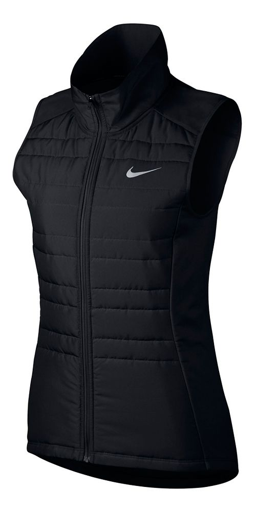 Womens Nike Essential Filled Vests - Black XL