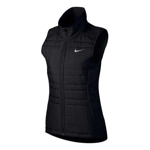 Womens Nike Essential Filled Vests - Black L