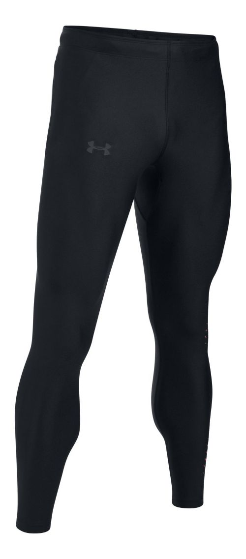 Mens Under Armour Accelebolt Tights - Black/Red XL