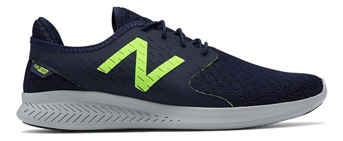 Mens New Balance Coast v3 Running Shoe - Pigment/Lime 11.5