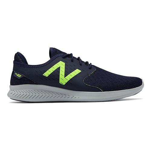 Mens New Balance Coast v3 Running Shoe - Pigment/Lime 10.5