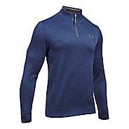 Mens Under Armour Fleece 1/4 Zip Slub Half-Zips & Hoodies Technical Tops - Black/Graphite L
