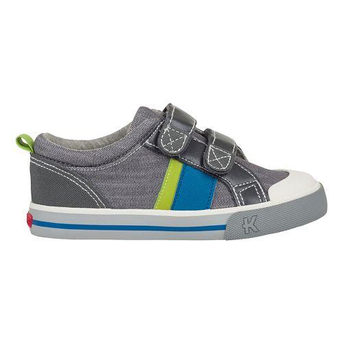 See Kai Run Russell Casual Shoe - Grey Denim 9.5C