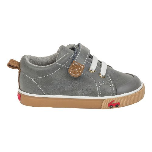 Boys See Kai Run Stevie II Casual Shoe - Grey Leather 7C
