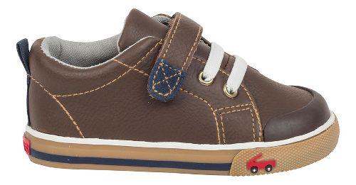 Kids See Kai Run Stevie II Casual Shoe - Brown Leather 4.5C