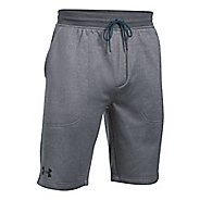 Mens Under Armour Fleece Fitted Unlined Shorts - Carbon Heather XXL