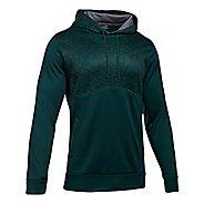 Mens Under Armour Fleece Hood - Digi Texture Half-Zips & Hoodies Technical Tops