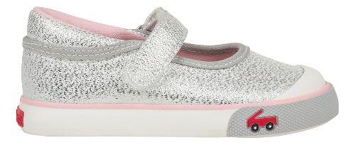 Kids See Kai Run Marie Sandals Shoe - Silver Glitter 5C