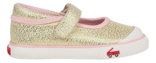 Kids See Kai Run Marie Sandals Shoe - Gold Glitter 7C