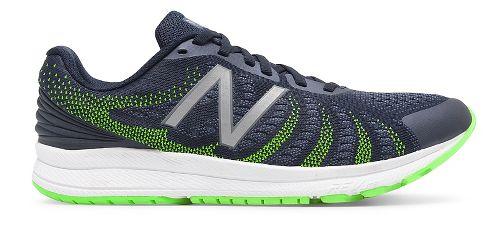 Mens New Balance Rush v3 Running Shoe - Navy/Lime 10.5