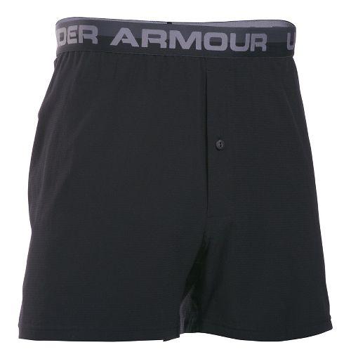 Mens Under Armour AirVent Boxer Brief Underwear Bottoms - Black XL
