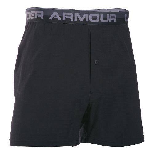 Mens Under Armour AirVent Boxer Brief Underwear Bottoms - Black M