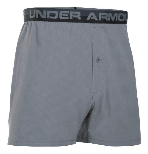 Mens Under Armour AirVent Boxer Brief Underwear Bottoms - Steel L
