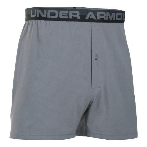 Mens Under Armour AirVent Boxer Brief Underwear Bottoms - Steel XL