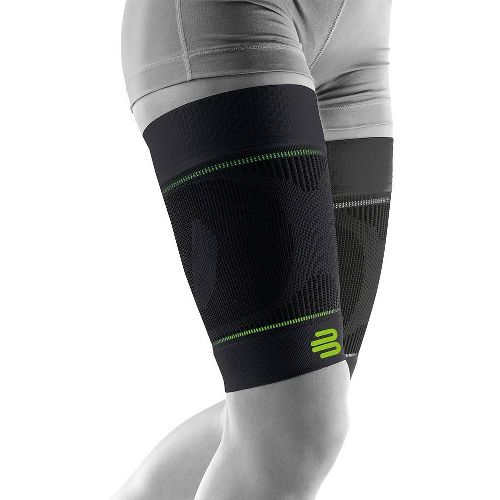Bauerfeind Sports Compression Sleeves Upper Leg Injury Recovery - Black XL-S