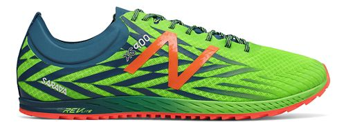 Mens New Balance XC900v4 Track and Field Shoe - Lime/Blue 9