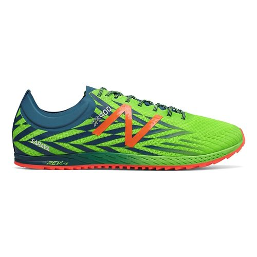 Mens New Balance XC900v4 Track and Field Shoe - Lime/Blue 12.5