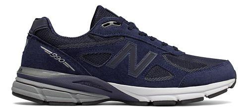 Mens New Balance 990v4 Reflect Running Shoe - Navy/White 9
