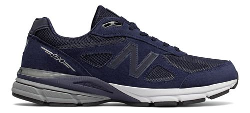 Mens New Balance 990v4 Reflect Running Shoe - Navy/White 9.5