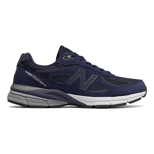 Mens New Balance 990v4 Reflect Running Shoe - Navy/White 10.5