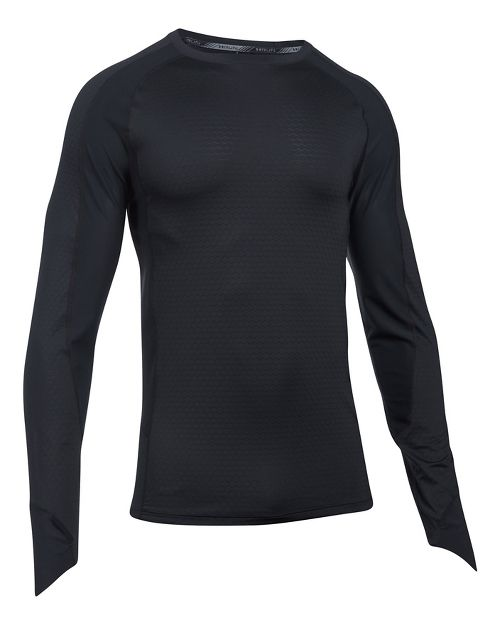 Mens Under Armour Speed To Burn Long Sleeve Technical Tops - Black 3XL