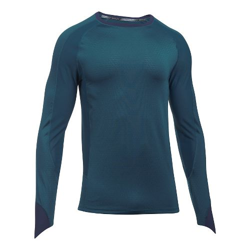 Mens Under Armour Speed To Burn Long Sleeve Technical Tops - True Ink L