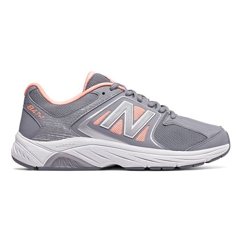 Womens New Balance 847v2 Walking Shoe - Grey/Pink 7.5