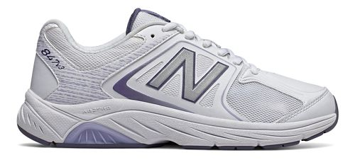 Womens New Balance 847v3 Walking Shoe - White/Grey 7.5